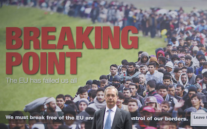 UKIP Leader Nigel Farage launches UKIP's new EU Referendum poster campaign, London, UK - 16 Jun 2016